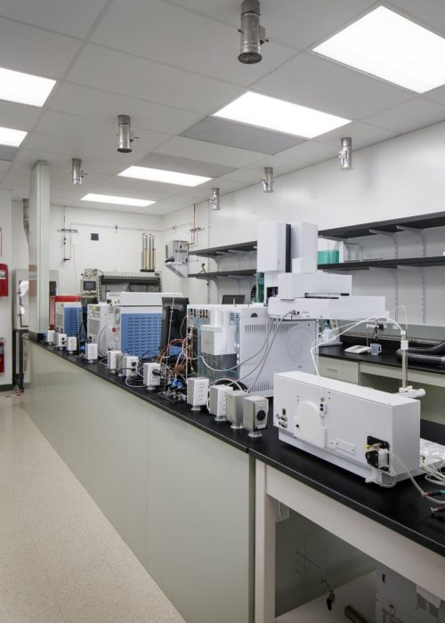Renovated lab spaces for Air Products in Carlsbad, California completed by PRAVA Construction.