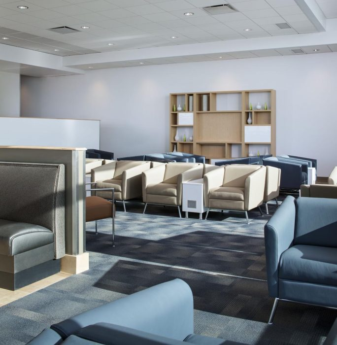 Renovation project at San Diego International Airport, creating the new Airspace Lounge. Construction by PRAVA Construction of Carlsbad, California.