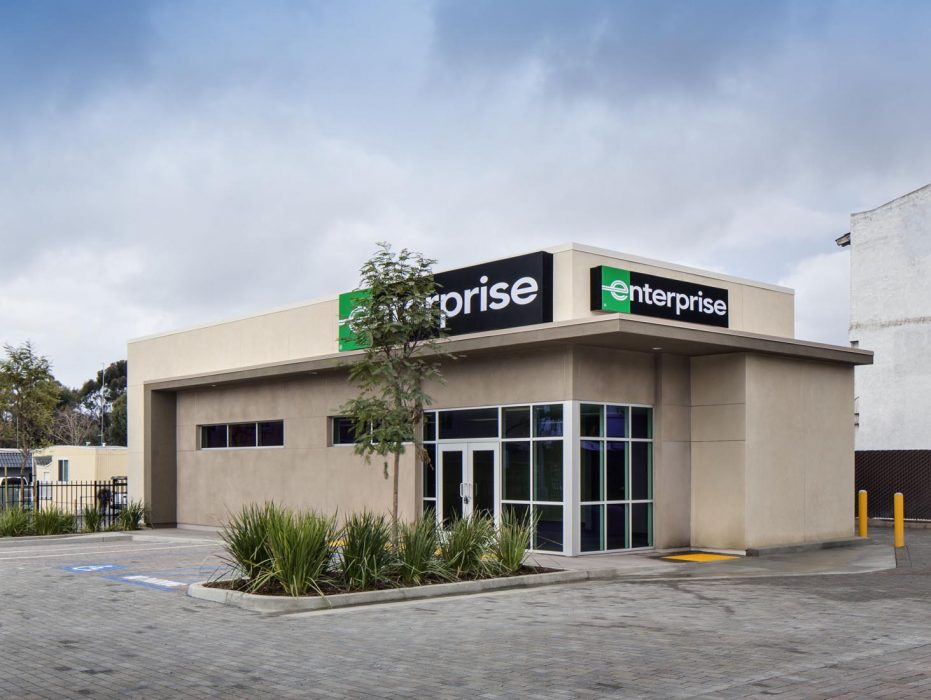 New Enterprise Car Rental facility in Pacific Beach, California constructed by PRAVA Construction.