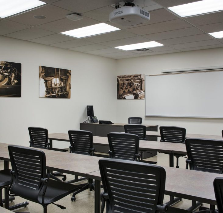 Interior renovation by PRAVA Construction to create a new training campus for Miracosta College in Carlsbad, California.