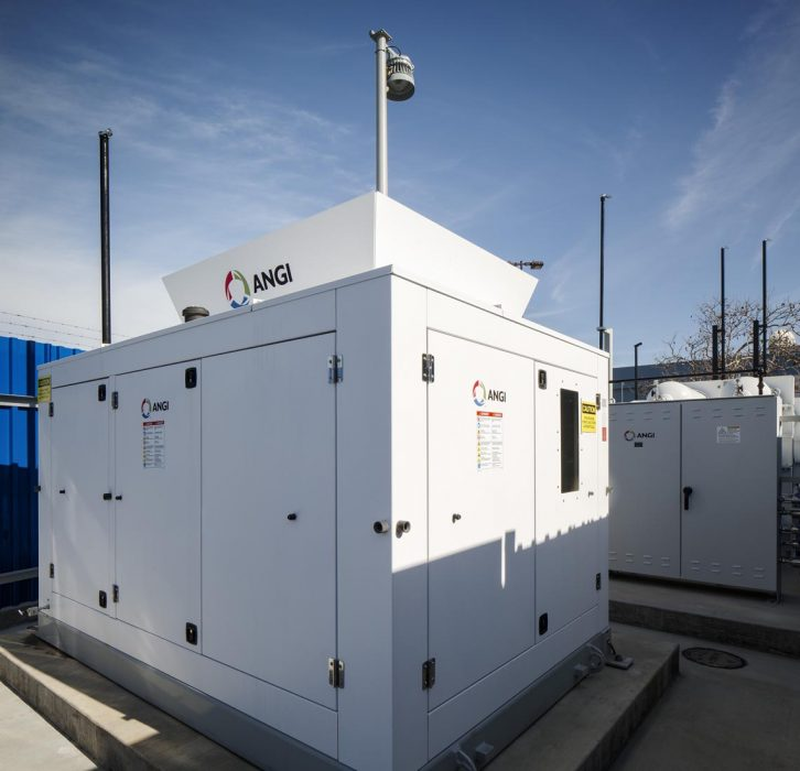 New CNG station for SDGE in San Diego, California constructed by PRAVA Construction.