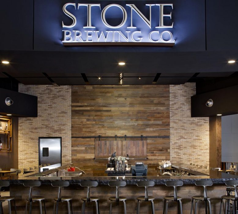 Stone Brewery located in Terminal 2 of San Diego Aiprort completed by PRAVA Construction.