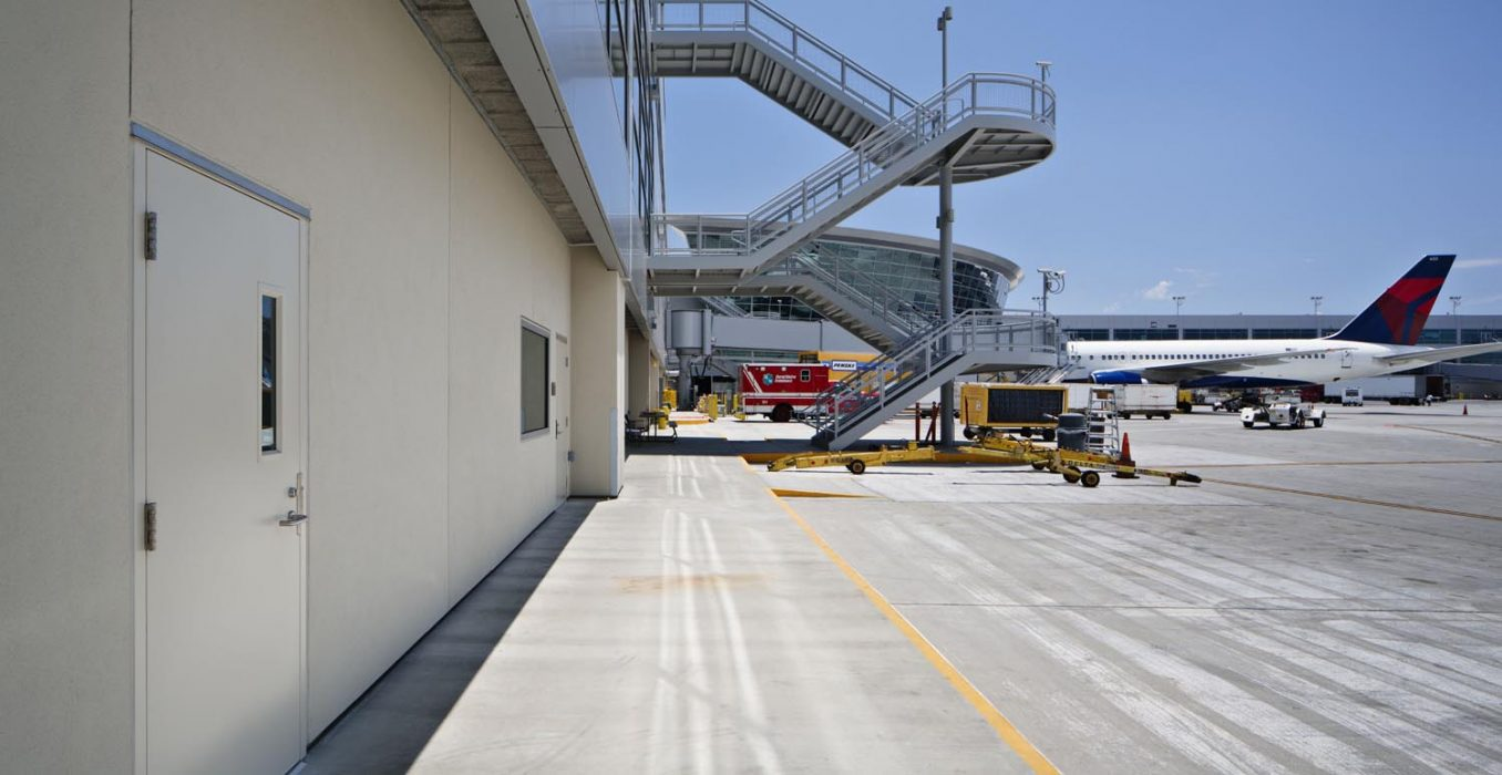 Completed construction of United and Delta Airlines Operations at San Diego Airport Terminal 2 expansion completed by PRAVA Construction.